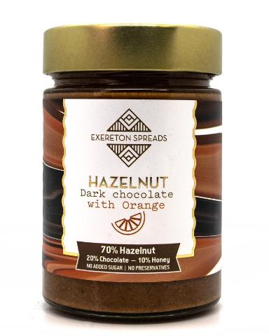 HAZELNUT ORANGE DARK CHOCOLATE SPREAD 350g