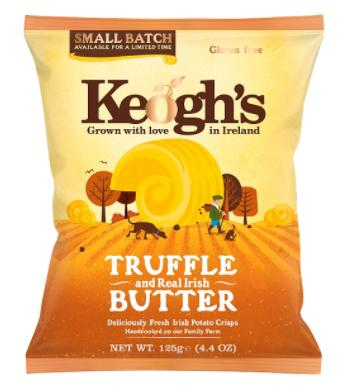 KEOGH'S CHIPS TRUFFLE & BUTTER 125G