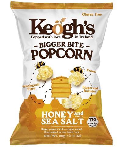 KEOGH'S POPCORN HONEY & SEA SALT
